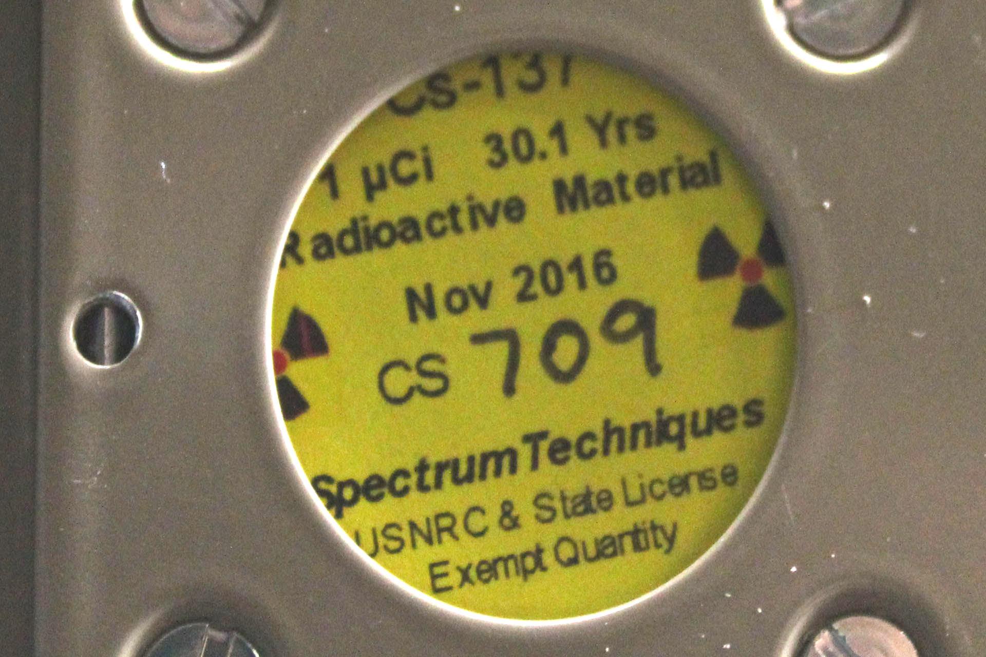 Cs-137 Check Source