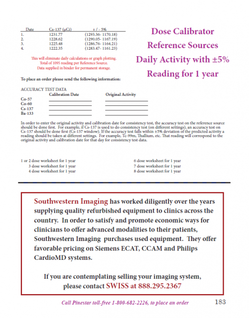 Pinestar Technology, Inc. Dose Cal Ref Sources Products